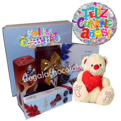 Caja personalizada de cumpleaños y Chocolates a domicilio en Santiago