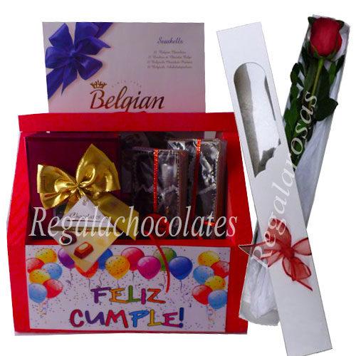 Rosas mas Chocolates a domicilio en Santiago