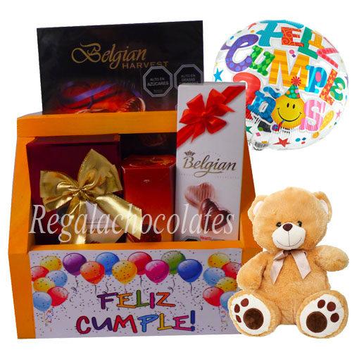 Chocolates Feliz cumpleaños y oso