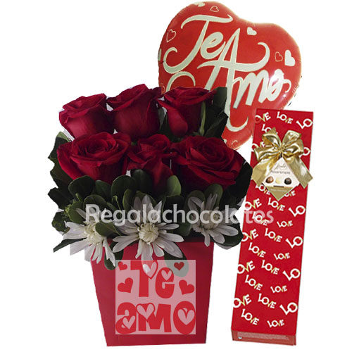 Rosas Rojas y Chocolates a Domicilio en Santiago