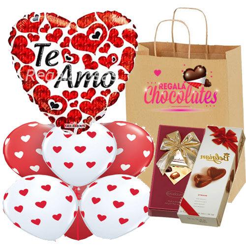 Bouquet con Chocolates Te amo a domicilio en santiago