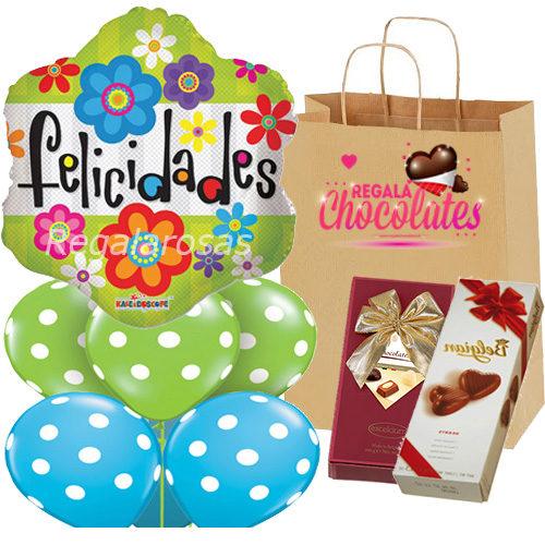 Bouquet Con chocolates Felicidades a domicilio en santiago