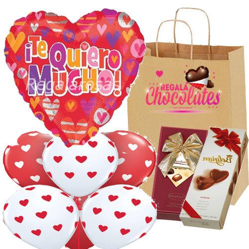 Bouquet con chocolates Te quiero mucho a domicilio en santiago