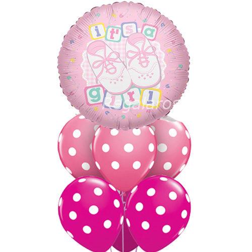 Bouquet nacimiento niña a domicilio en santiago