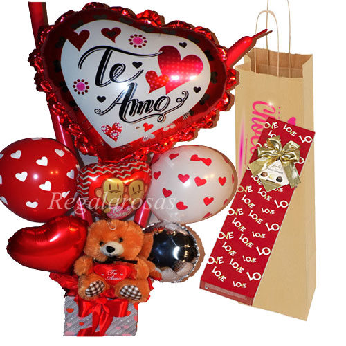 Pack Bouquet Peluche y Chocolates a domicilio en santiago