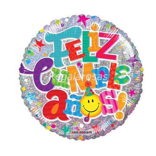 Globo helio Feliz cumpleaños a domicilio en santiago