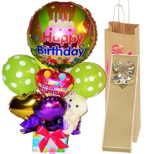 Pack Bouquet Feliz Cumpleaños y Chocolates a domicilio en santiago