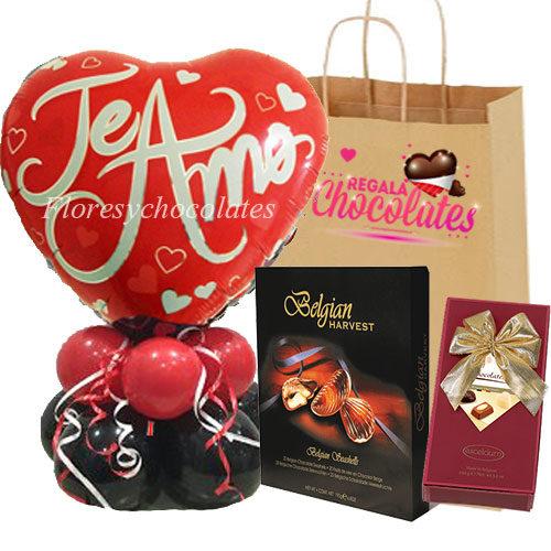 Pack Especial Bouquet de Globos y Chocolates a domicilio en santiago