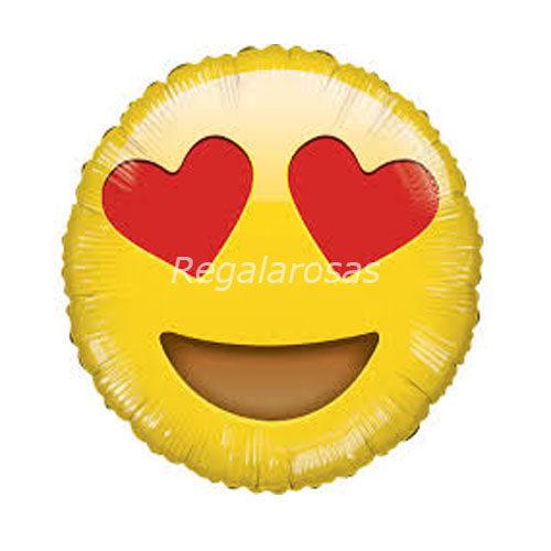 Globo helio emoticon me encanta a domicilio en santiago