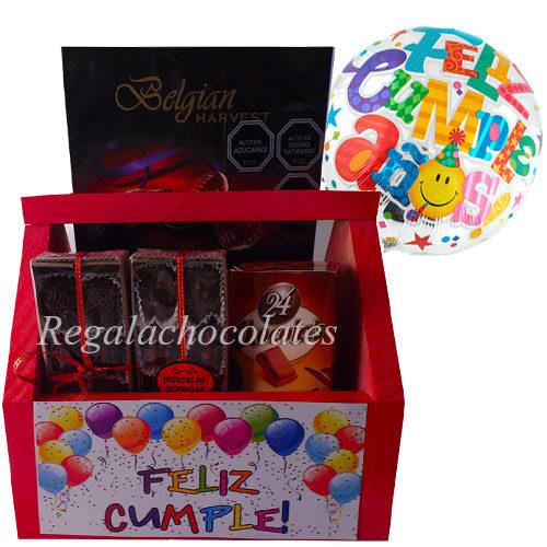 Chocolate con nueces de cumpleaños a domicilio en Santiago