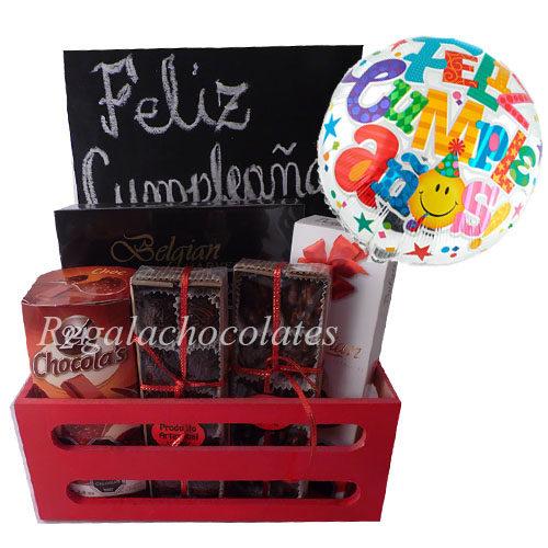 Chocolates de cumpleaños a domicilio en Santiago